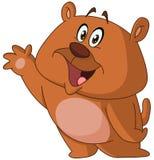 Szczęśliwy niedźwiadkowy falowanie Zdjęcie Stock