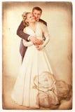 szczęśliwy niedawno poślubia Zdjęcia Royalty Free