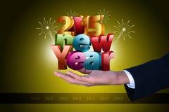 Szczęśliwy nowego roku świętowania 2015 pojęcie Obraz Royalty Free