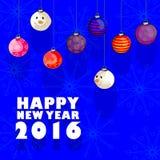 Szczęśliwy nowego roku świętowania 2016 tło Obraz Royalty Free