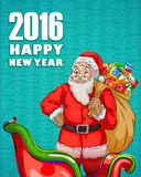Szczęśliwy nowego roku świętowania 2016 tło Fotografia Stock