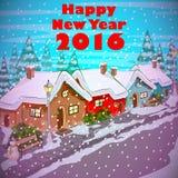 Szczęśliwy nowego roku świętowania 2016 tło Fotografia Royalty Free