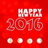 Szczęśliwy nowego roku świętowania 2016 tło Zdjęcie Stock