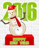 Szczęśliwy nowego roku świętowania 2016 tło Obraz Stock