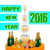 Szczęśliwy nowego roku świętowania 2016 tło Zdjęcia Stock