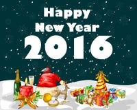 Szczęśliwy nowego roku świętowania 2016 tło Zdjęcie Royalty Free