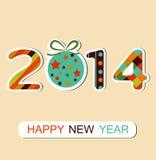 Szczęśliwy nowego roku świętowania 2014 tło. Wektor ilustracji