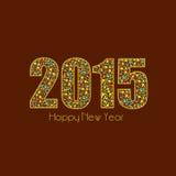 Szczęśliwy nowego roku 2015 świętowanie z eleganckim teksta projektem Obraz Stock