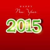 Szczęśliwy nowego roku 2015 świętowanie z eleganckim tekstem Obrazy Royalty Free