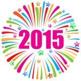 Szczęśliwy nowego roku 2015 biel Obrazy Stock