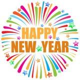 Szczęśliwy nowego roku biel 2 Obrazy Royalty Free