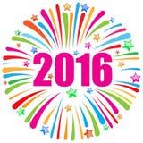 Szczęśliwy nowego roku 2016 biel Obrazy Stock