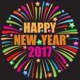 Szczęśliwy nowego roku 2017 biel Fotografia Royalty Free