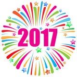 Szczęśliwy nowego roku 2017 biel Zdjęcie Stock