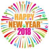 Szczęśliwy nowego roku 2018 biel Obrazy Stock