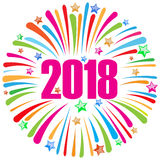 szczęśliwy nowego roku 2018 biel 2 Obraz Royalty Free