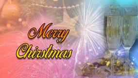 Szczęśliwy nowego roku & bożego narodzenia świętowania 2020 Plakatowy projekt zdjęcia royalty free