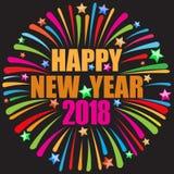 Szczęśliwy nowego roku czerń Obrazy Royalty Free