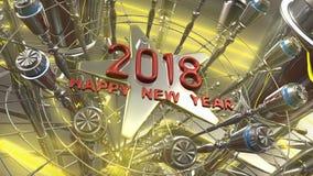Szczęśliwy nowego roku 3d rendering Fotografia Royalty Free