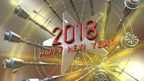 Szczęśliwy nowego roku 3d rendering Zdjęcia Royalty Free