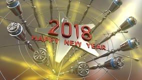 Szczęśliwy nowego roku 3d rendering Zdjęcie Stock