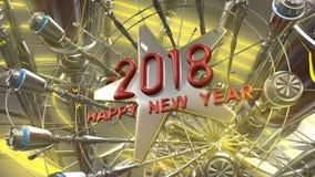 Szczęśliwy nowego roku 3d rendering Obrazy Stock
