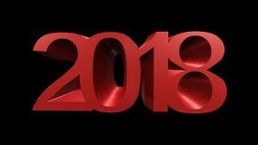 Szczęśliwy nowego roku 2018 3d rendering zdjęcia royalty free