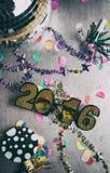 Szczęśliwy nowego roku 2016 Grunge i Porysowany tło Obraz Royalty Free