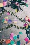 Szczęśliwy nowego roku 2016 Grunge i Porysowany tło Zdjęcia Royalty Free