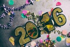 Szczęśliwy nowego roku 2016 Grunge i Porysowany tło Obrazy Stock