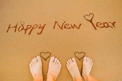 Szczęśliwy nowego roku i miłości serce zdjęcia royalty free