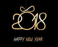 Szczęśliwy nowego roku kartka z pozdrowieniami 2018 Zdjęcia Royalty Free