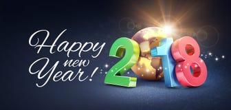 Szczęśliwy nowego roku 2018 kartka z pozdrowieniami Zdjęcia Royalty Free