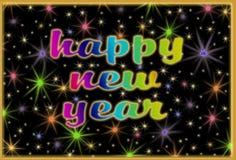Szczęśliwy nowego roku kartka z pozdrowieniami Zdjęcia Royalty Free