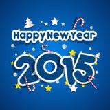 Szczęśliwy nowego roku 2015 kartka z pozdrowieniami Fotografia Royalty Free