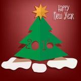 Szczęśliwy nowego roku kartka z pozdrowieniami Zdjęcie Royalty Free