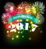 Szczęśliwy nowego roku kartka z pozdrowieniami 2017 Obrazy Royalty Free