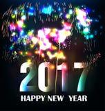Szczęśliwy nowego roku kartka z pozdrowieniami 2017 Obrazy Stock