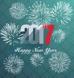 Szczęśliwy nowego roku kartka z pozdrowieniami 2017 Fotografia Royalty Free