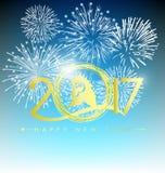 Szczęśliwy nowego roku kartka z pozdrowieniami 2017 Zdjęcie Stock