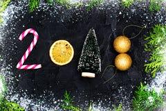 Szczęśliwy nowego roku 2018 kartka z pozdrowieniami Zdjęcie Stock