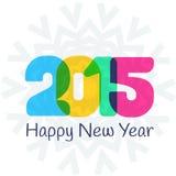 Szczęśliwy 2015 nowego roku kolorowy kartka z pozdrowieniami Fotografia Royalty Free