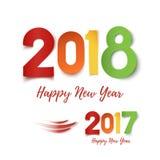Szczęśliwy nowego roku 2017, 2018 - kolorowy projekt ilustracji