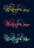 Szczęśliwy nowego roku koloru tekst Royalty Ilustracja