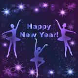 Szczęśliwy nowego roku literowania kartka z pozdrowieniami Fotografia Royalty Free