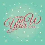 Szczęśliwy nowego roku literowania kartka z pozdrowieniami również zwrócić corel ilustracji wektora Zdjęcie Royalty Free