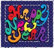 Szczęśliwy nowego roku literowanie ilustracji