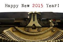 Szczęśliwy nowego roku maszyna do pisania Fotografia Royalty Free