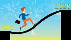Szczęśliwy nowego roku plakat 2020 fotografia royalty free