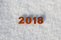 Szczęśliwy nowego roku 2018 pojęcie Obrazy Stock